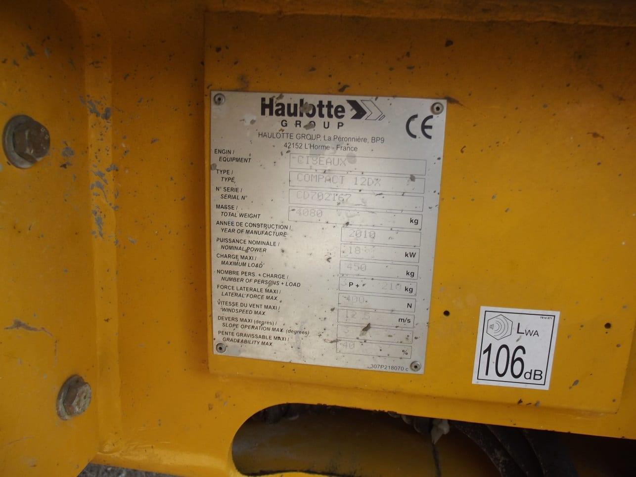 Satılık Dizel Makaslı Haulotte Compact 12DX
