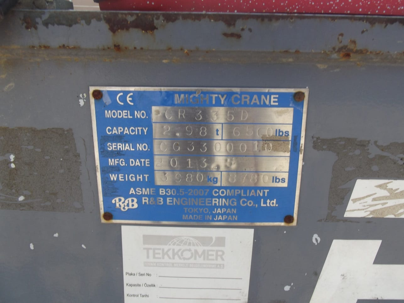 Satılık Mighty Crane CR335D Mini Vinç