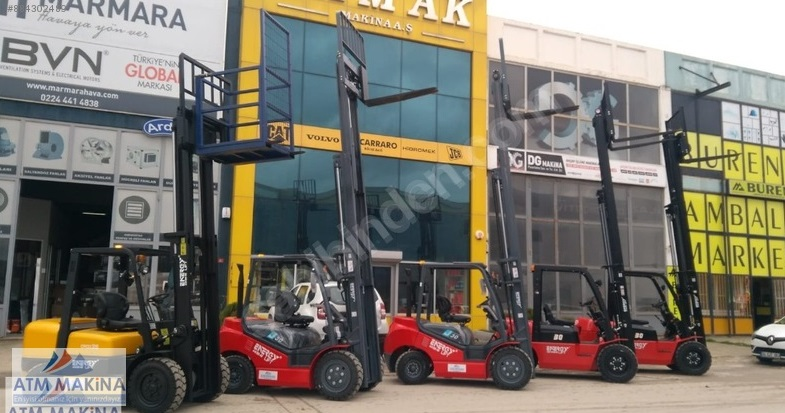 Plakalı Ruhsatlı Hyundai 5 ton Dizel Forklift Standart Asansörlü